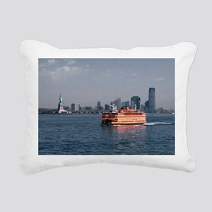 (6) Staten Island Ferry Rectangular Canvas Pillow