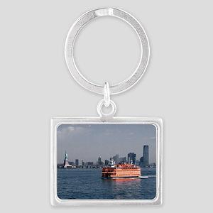 (6) Staten Island Ferry Landscape Keychain