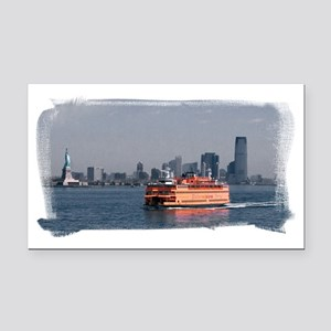 (16) Staten Island Ferry Rectangle Car Magnet