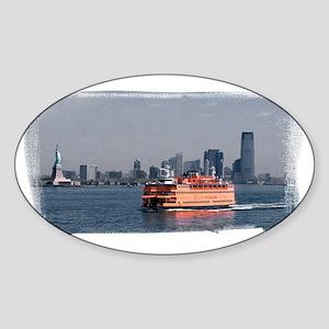 (16) Staten Island Ferry Sticker (Oval)