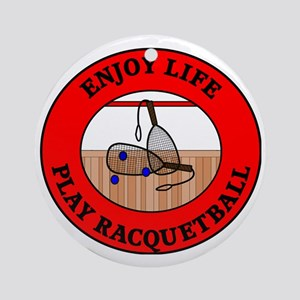 racquetball2 Round Ornament