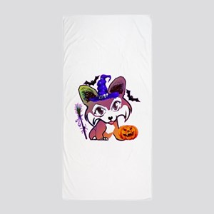 Halloween Corgi Beach Towel