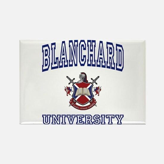 BLANCHARD University Rectangle Magnet