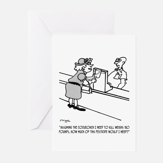 180 Pound Cockroach? Greeting Cards (Pk of 10)