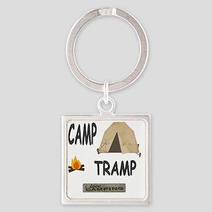 camp tramp 11x11 Square Keychain