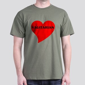 VagitarianHeart Dark T-Shirt