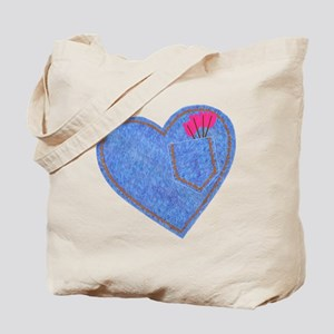 2-0001CupidDenimHeart-with-pink-arrows-po Tote Bag