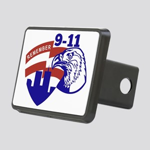 9-11 Eagle Head World Trad Rectangular Hitch Cover
