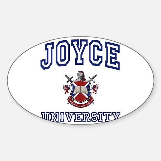 JOYCE University Oval Decal