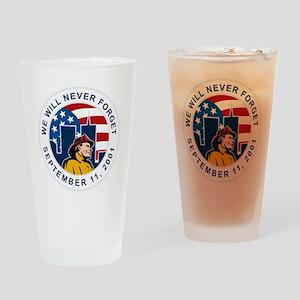 9-11 fireman firefighter american f Drinking Glass