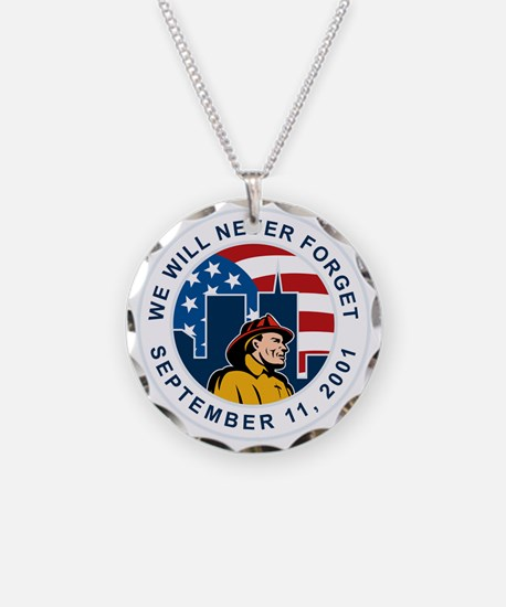 9-11 fireman firefighter ame Necklace