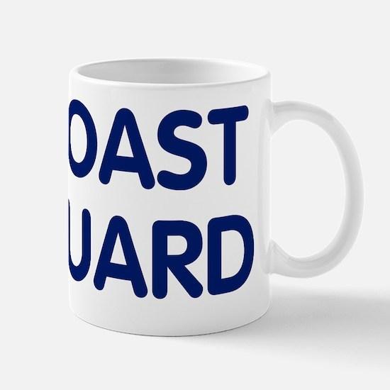 USCG-Text-Blue Mug