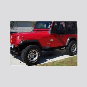 Jeep 3 2010 002 Rectangle Magnet