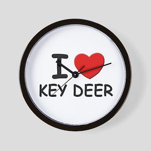 I love key deer Wall Clock