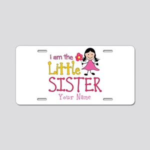 Little Sister Stick Figure Girl Aluminum License P
