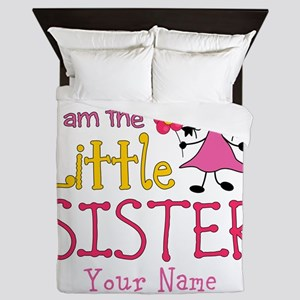 Little Sister Stick Figure Girl Queen Duvet