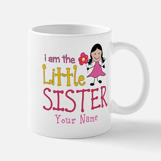 Little Sister Stick Figure Girl Mug