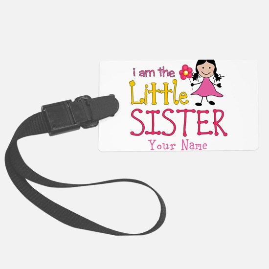 Little Sister Stick Figure Girl Luggage Tag