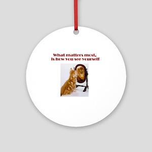 cat-lion Round Ornament