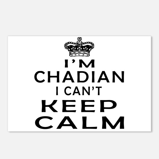 I Am Chadian I Can Not Keep Calm Postcards (Packag