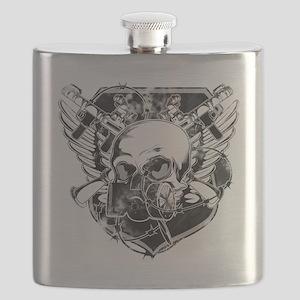 masked-skull Flask