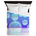 Frosty Clarity Abstract Queen Duvet