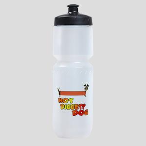 hot diggety dog Sports Bottle