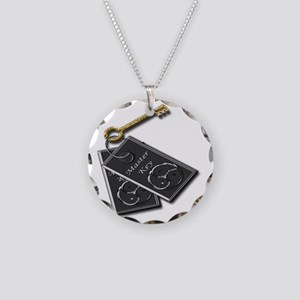 master key neut Necklace Circle Charm