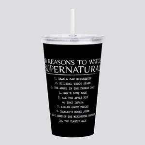 Supernatural Reasons Acrylic Double-wall Tumbler