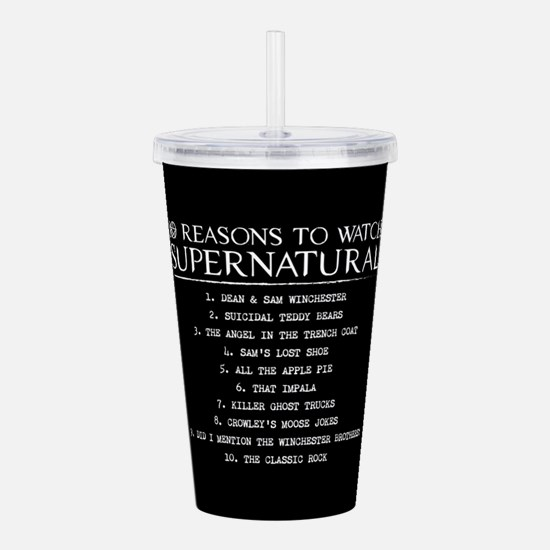 Supernatural Reasons Acrylic Double-wall Tumbler