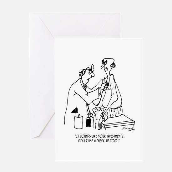 Investments Need a Check Up Too Greeting Card