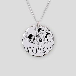 jiujitsu Necklace Circle Charm