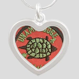 Unami Lodge turtle patch 195 Silver Heart Necklace
