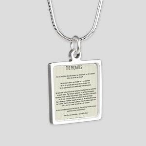 !4343 Silver Square Necklace