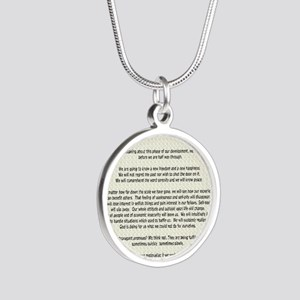 !4343 Silver Round Necklace