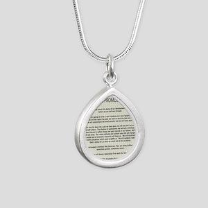 !4343 Silver Teardrop Necklace