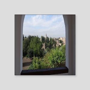 """Alhambra in Granada Square Sticker 3"""" x 3"""""""
