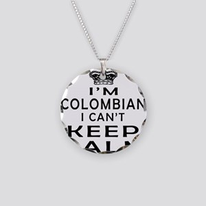 I Am Colombian I Can Not Keep Calm Necklace Circle