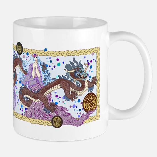 Celestial Dragon Banner Mugs