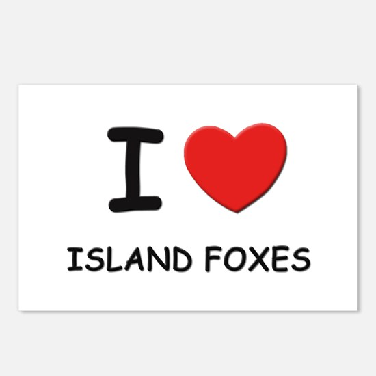 I love island foxes Postcards (Package of 8)