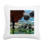 Crystal Garden Abstract Square Canvas Pillow