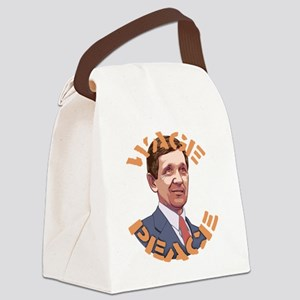 Kucinich-wage-peace-T Canvas Lunch Bag