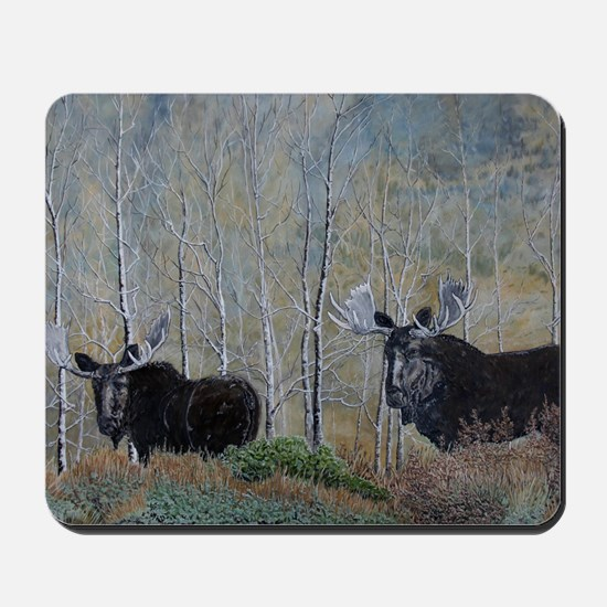 moose oil painting 14x10 Mousepad