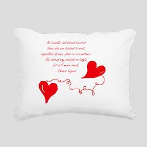 Red thread Legend Rectangular Canvas Pillow