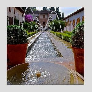 Alhambra in Granada Tile Coaster
