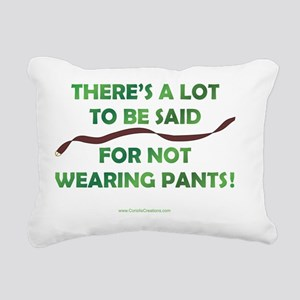 not-wear-pants_10h Rectangular Canvas Pillow