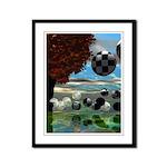Crystal Garden Abstract Framed Panel Print