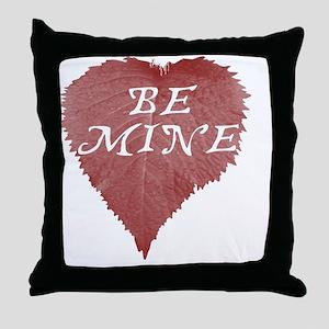 LeafHeartBeMine Throw Pillow