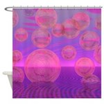 In the Zone Rose Amethyst Voyage Shower Curtain