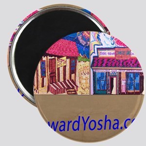 Small Framed Print 2 Storefronts Magnet